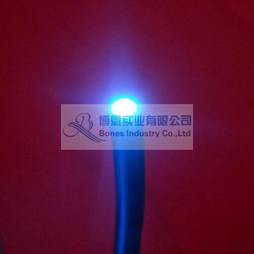 lc end glow emitting fiber optic lighting cable