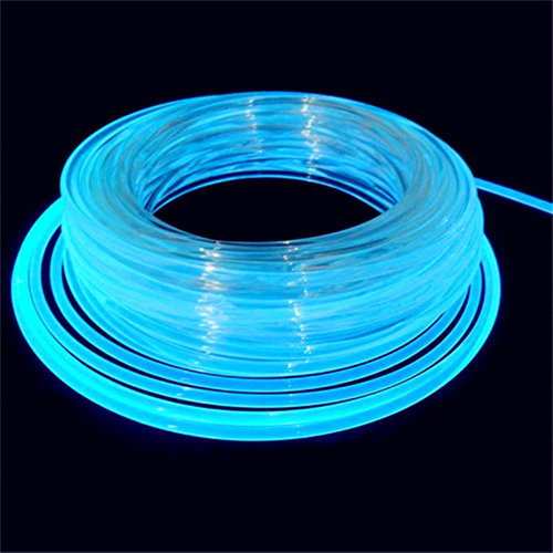 Side Glow Emitting Fiber Optic Lighting Filament And Cable